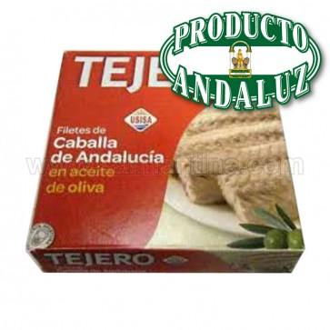 FILETES DE CABALLA DE ANDALUCIA EN ACEITE DE OLIVA TEJERO 525 GR.