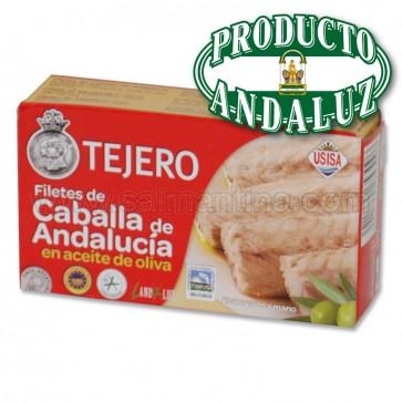 FILETES DE CABALLA DE ANDALUCIA EN ACEITE DE OLIVA TEJERO 120 GR.