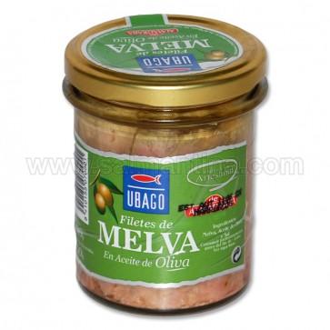 FILETES DE MELVA EN ACEITE DE OLIVA UBAGO 190 GR.