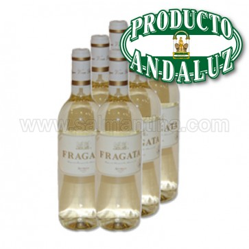 6 BOTELLAS  VINO BLANCO SEMI DULCE FRAGATA 750 ML.