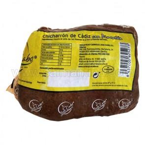 "OFERTA CHICHARRÓN DE CÁDIZ CON PIMENTÓN 1/4 + 1/4 KG. ""JOSE CABO"""
