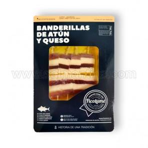 BANDERILLAS DE ATUN Y QUESO FICOLUME. 200 GR