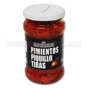 PIMIENTO DEL PIQUILLOEN TIRAS CON AJO EMPERATRIZ 300 GR.