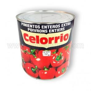 PIMIENTOS ENTEROS EXTRA CELORRIO. 2,5 KG