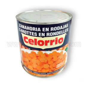 ZANAHORIA EN RODAJAS CELORRIO. 2,5 KG